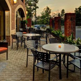 Enjoy a beverage or meal on the beautiful patio.